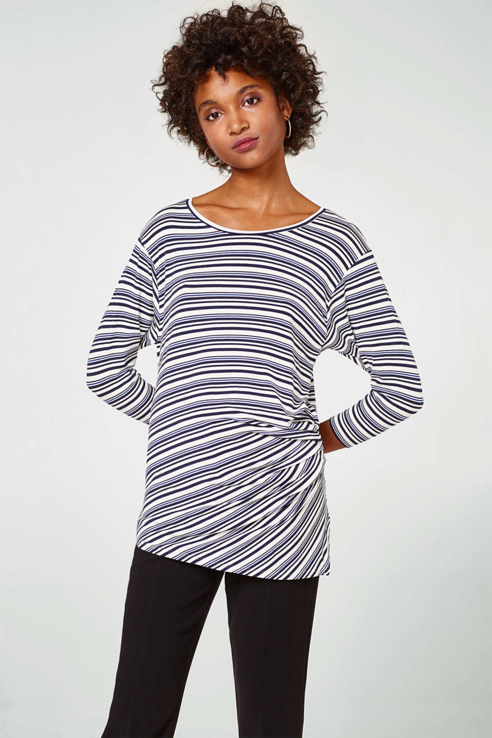 Esprit - Flowing stretch tee with gathering