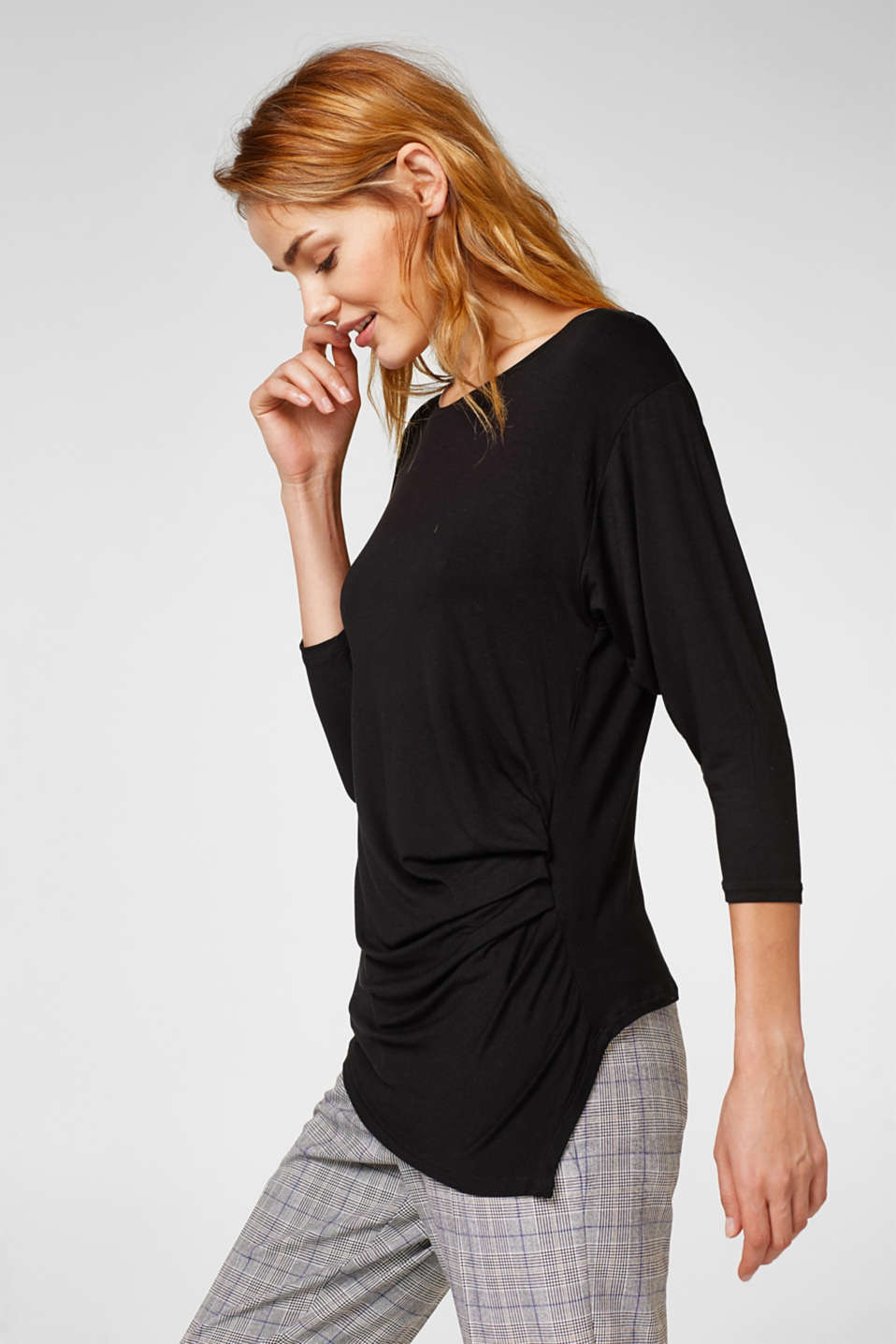 Esprit - Soft batwing top with gathering