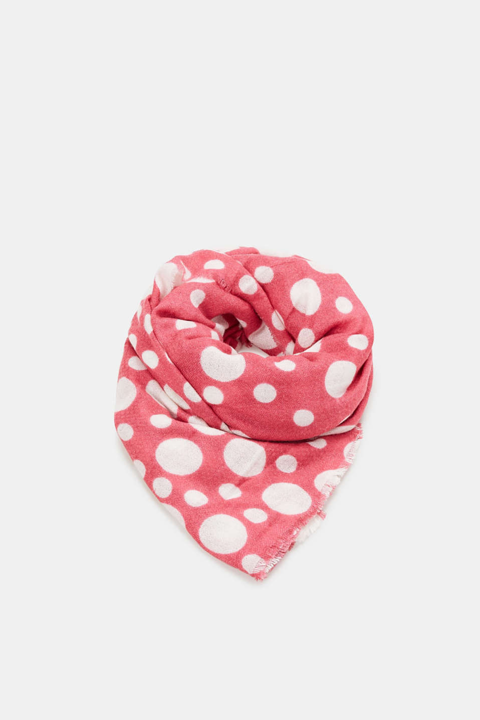 edc - Oversized scarf with polka dots