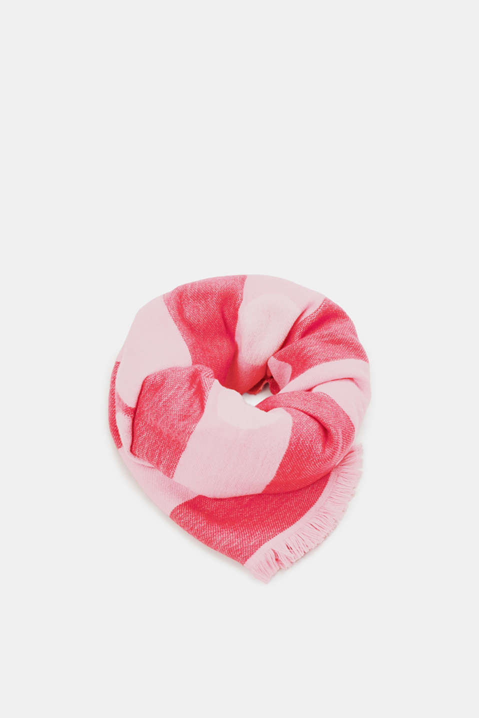 edc - Double-faced scarf with a stripe/polka dot pattern
