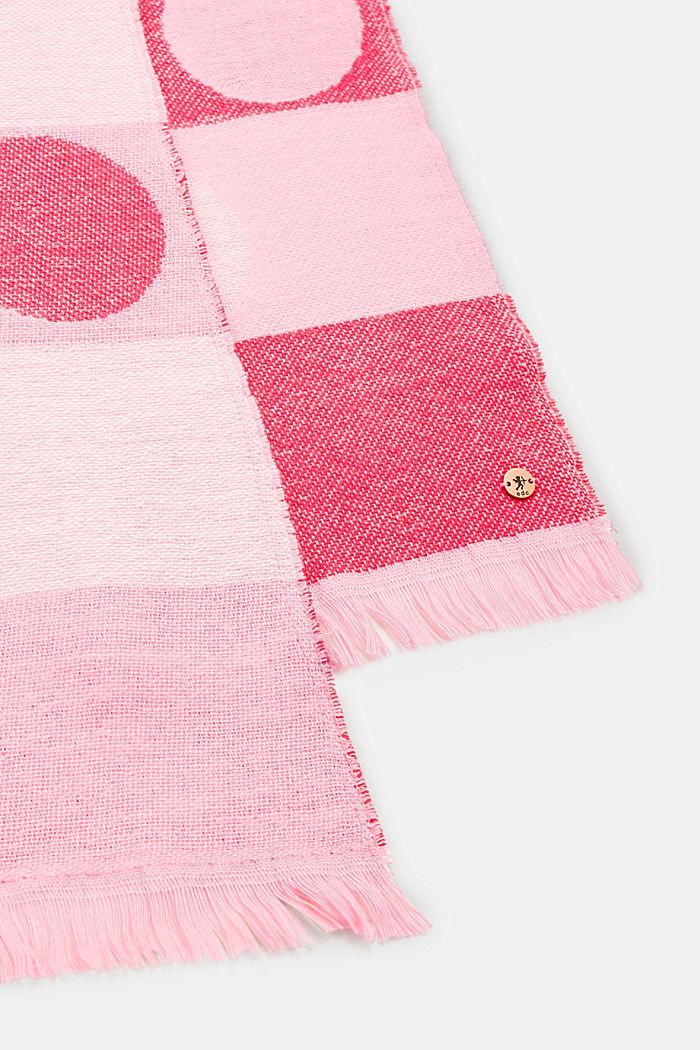 Doubleface-tørklæde med striber og prikker, BERRY RED, detail image number 1