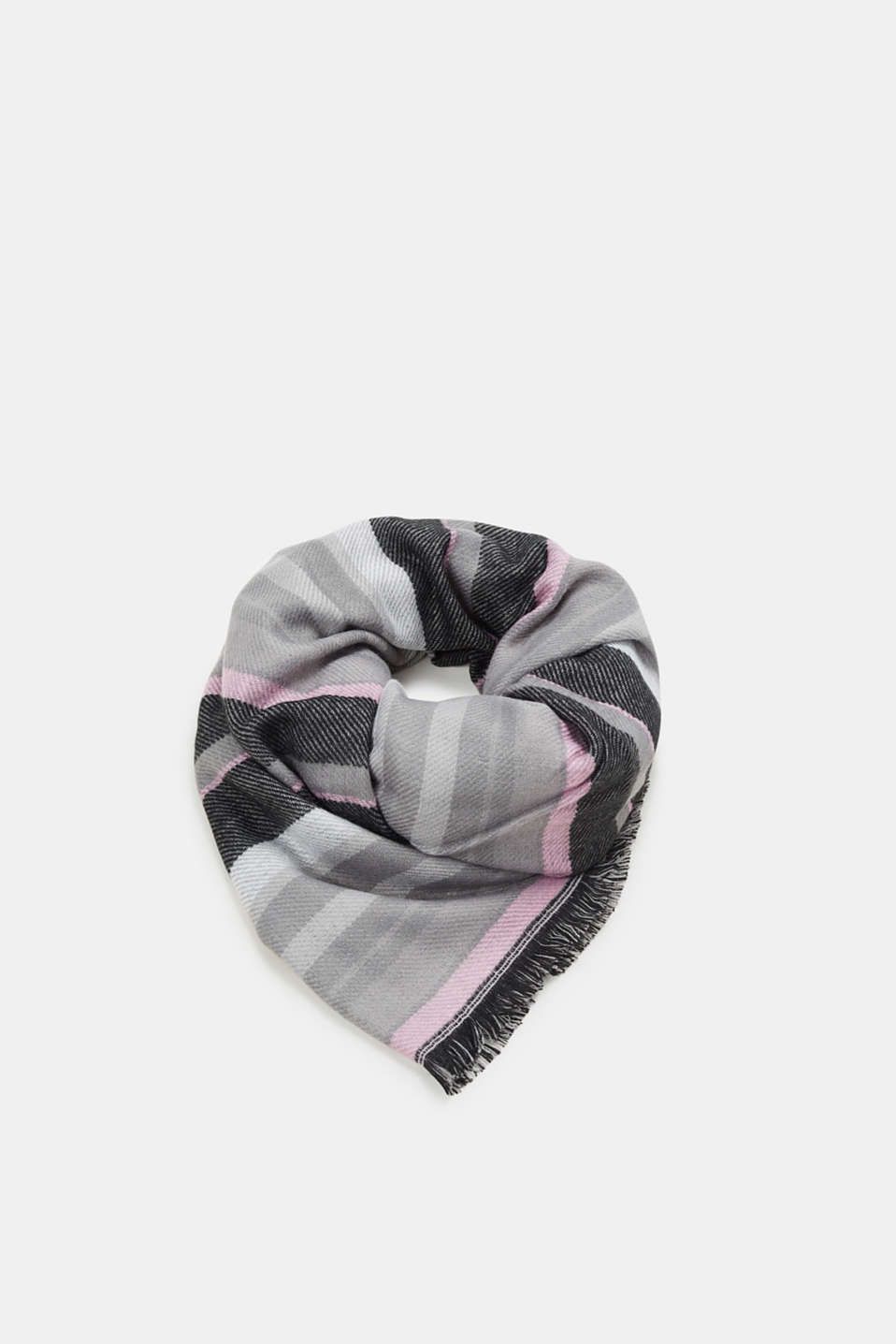 edc - Striped and spotty scarf