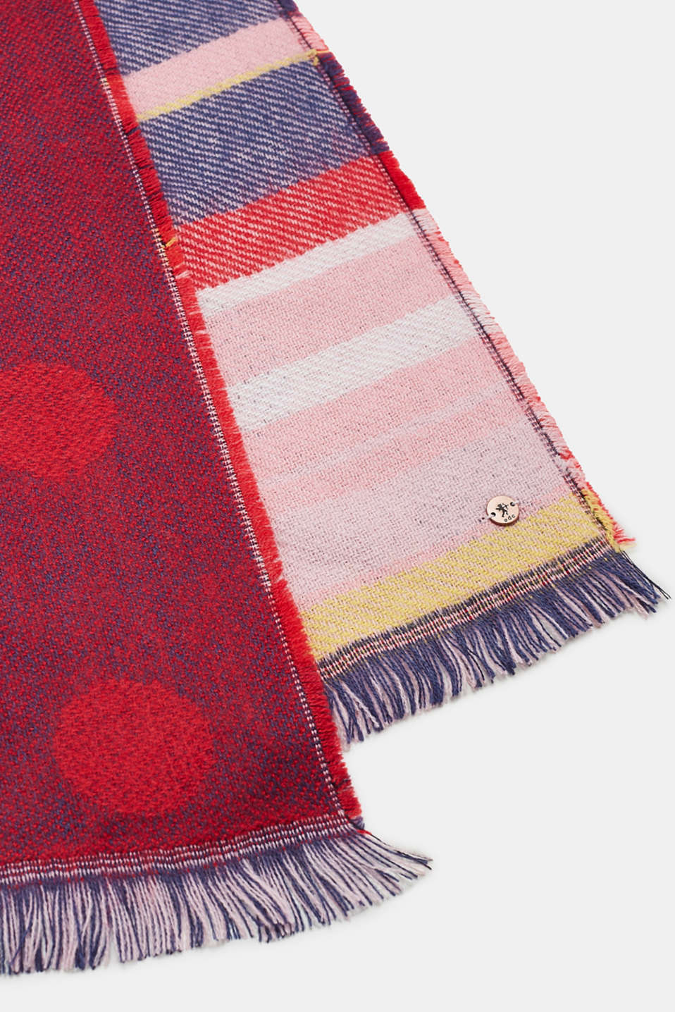 Shawls/Scarves, BERRY RED, detail image number 3