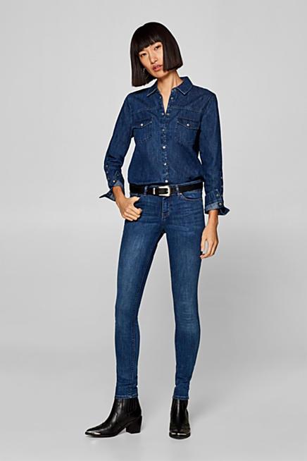 d37a2d95390b Stretch-Jeans in kombistarkem Basic-Look. Blau BLUE MEDIUM WASHED