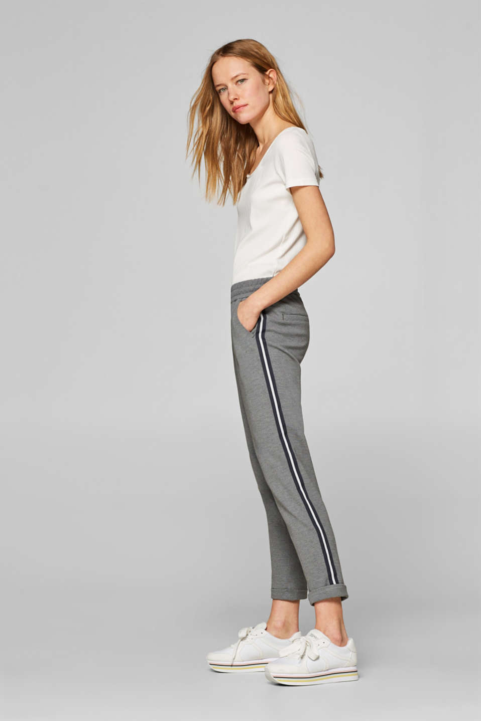 edc - Sweatshirt trousers with side stripes