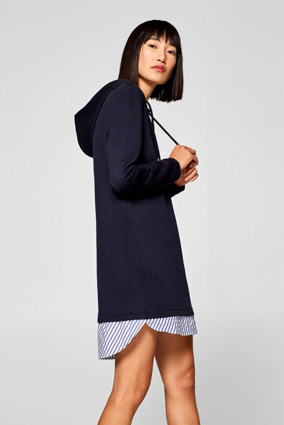 edc - Layered-effect sweatshirt dress with fabric details