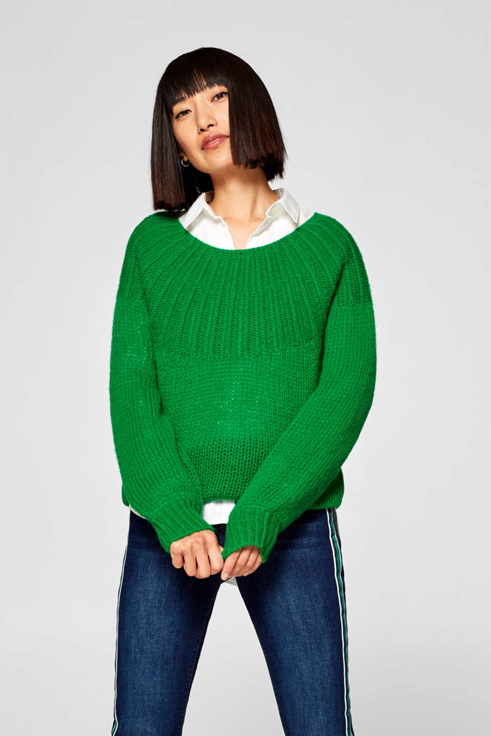 edc - Containing wool: Jumper with ribbed trim