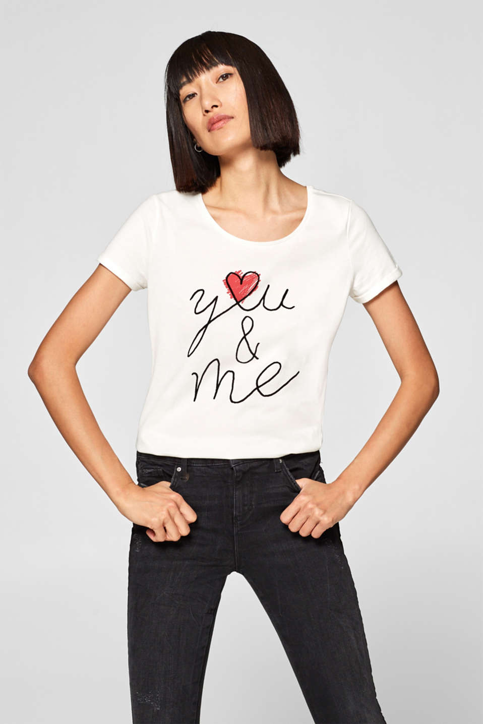 edc - T-shirt con differenti motivi stampati