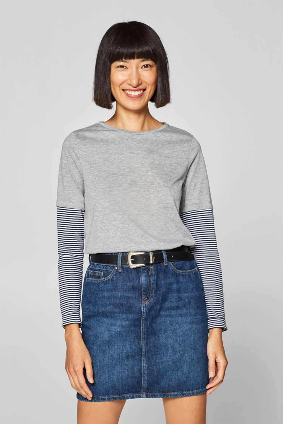 edc - Mock layer long sleeve top