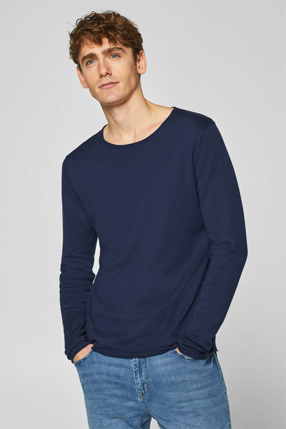 edc - Basic jumper in 100% cotton