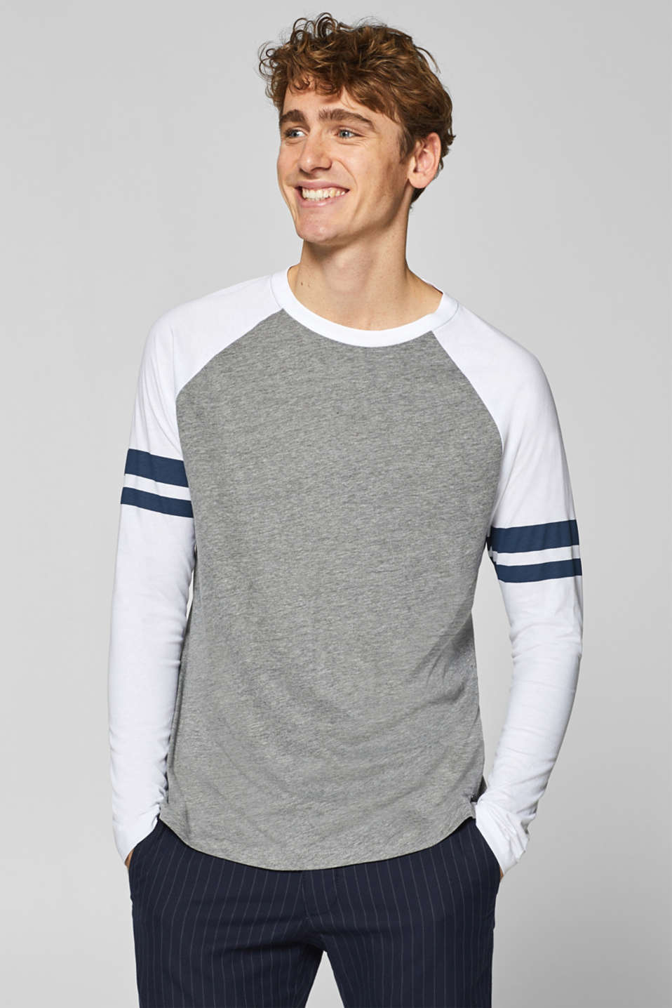 edc - Jersey long sleeve top with stripes