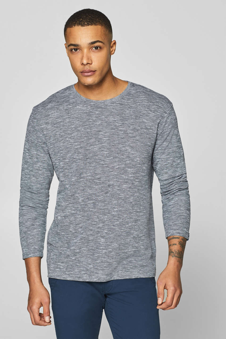 edc - Long sleeve jersey top in 100% cotton