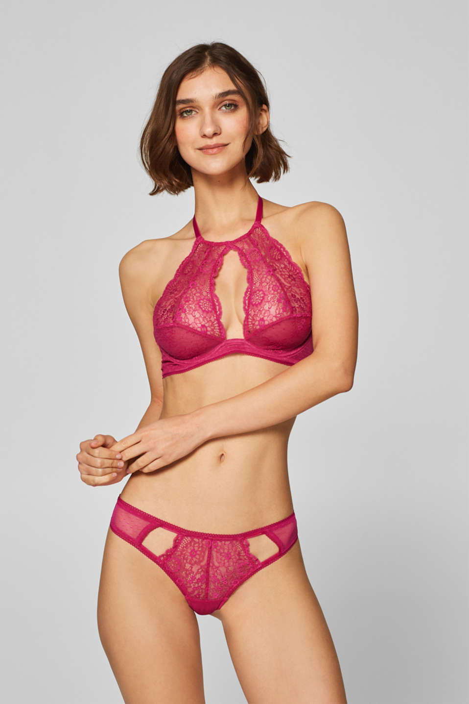 edc - Unpadded underwire top made of lace