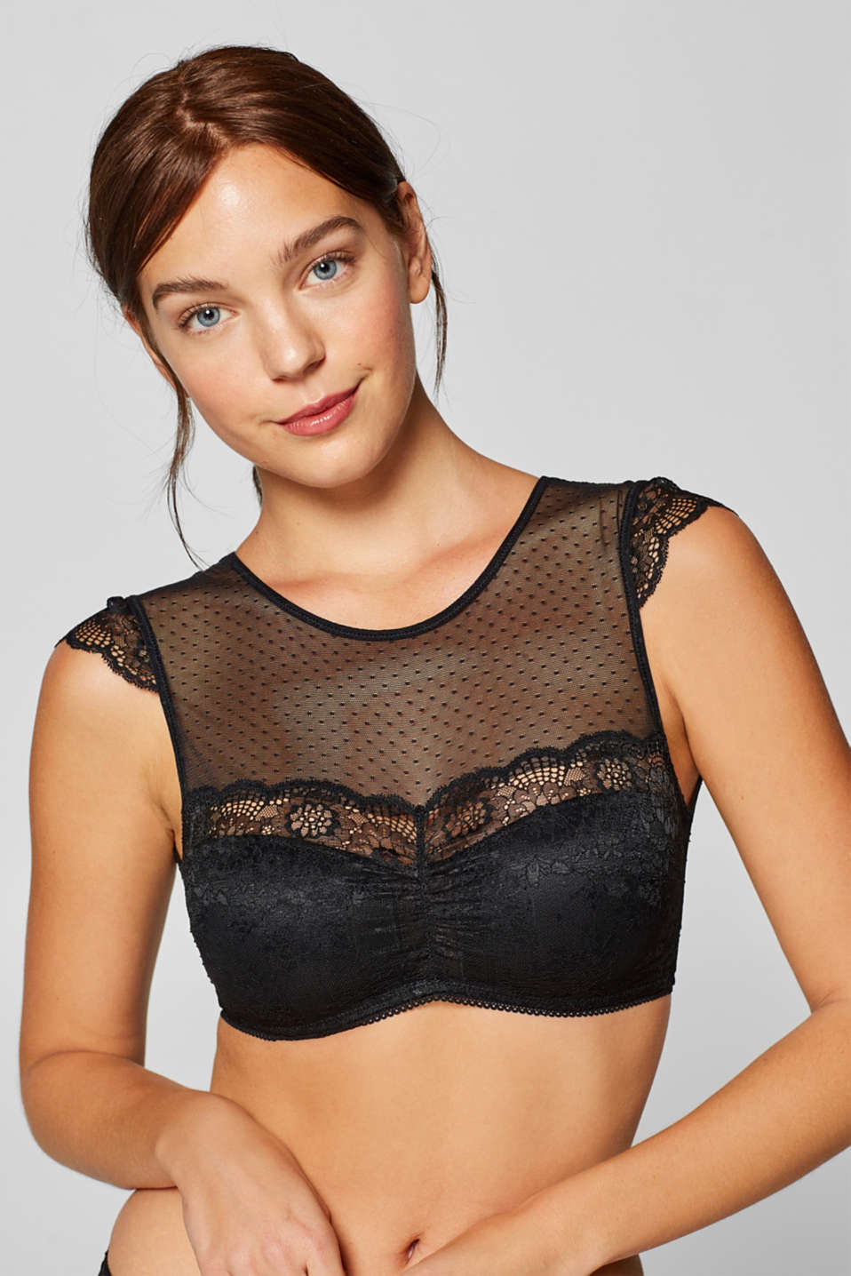 edc - Non-wired top in lace and mesh