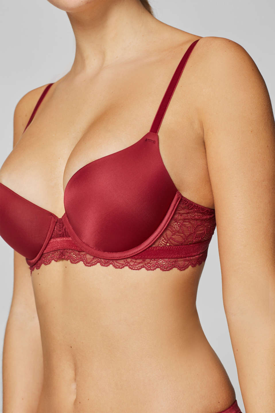 Bras with wire, BORDEAUX RED, detail image number 2