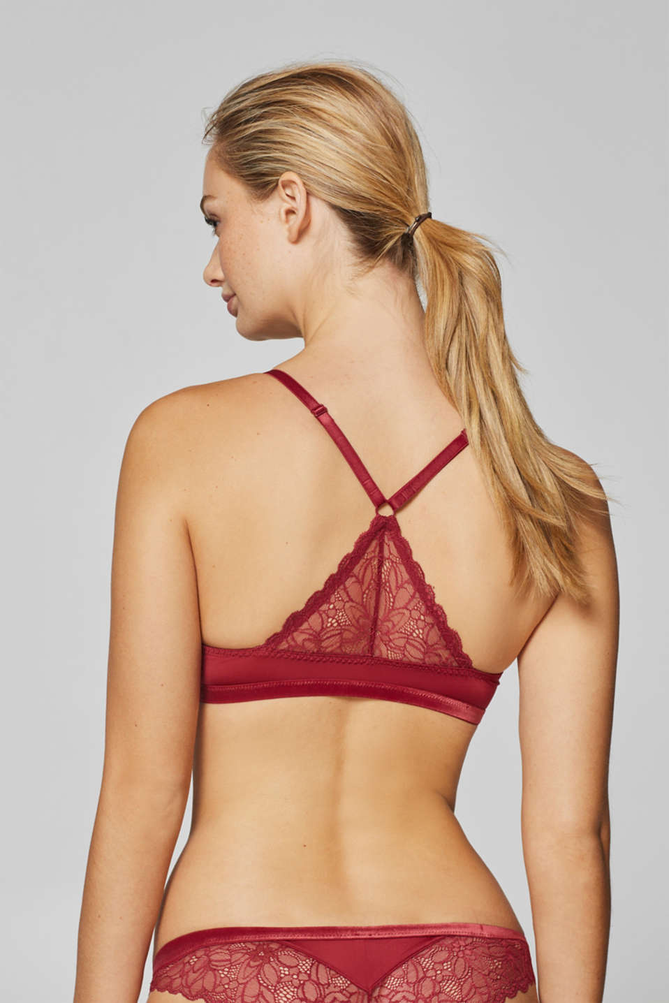 Bras with wire, BORDEAUX RED, detail image number 1