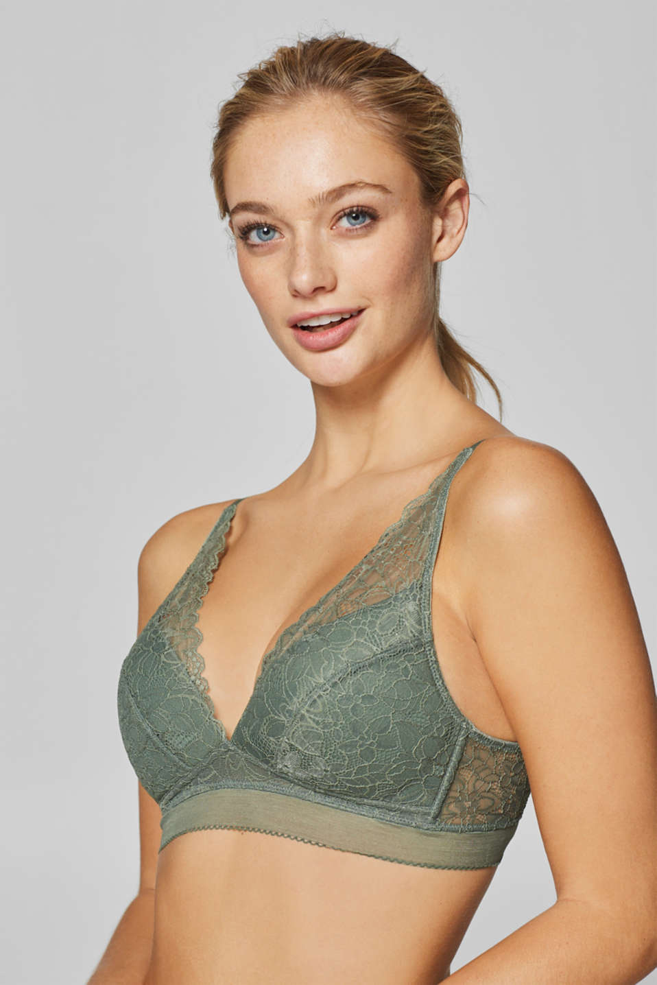edc - Padded wireless bra in lace