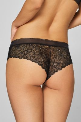 Hipster shorts in floral lace