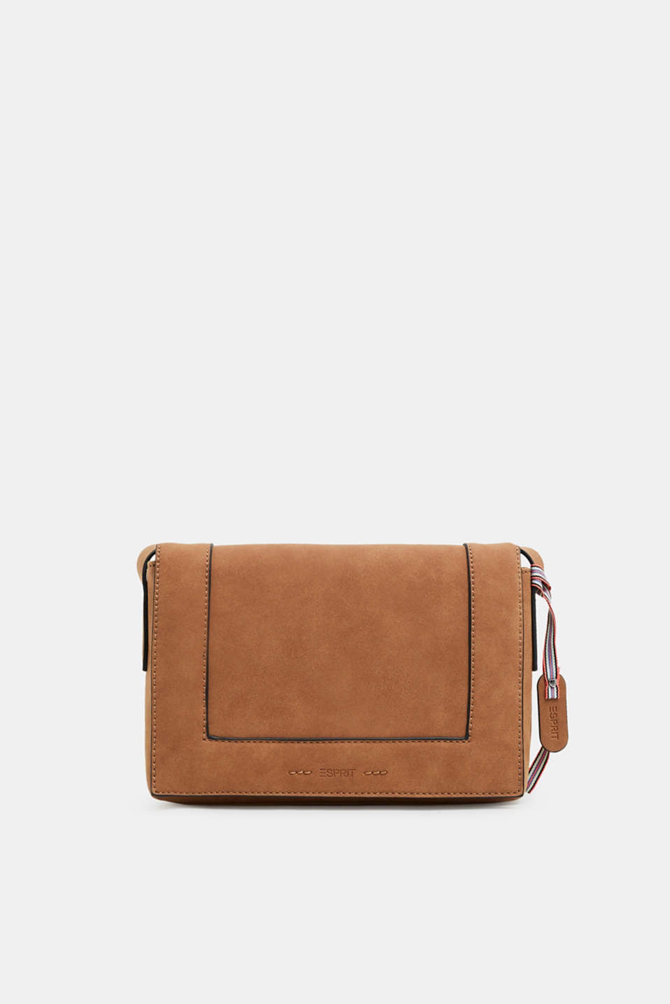 Esprit - Vegan faux nubuck leather shoulder bag