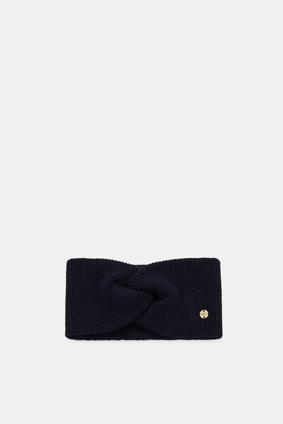 Esprit - Wool blend: Headband with a draped effect