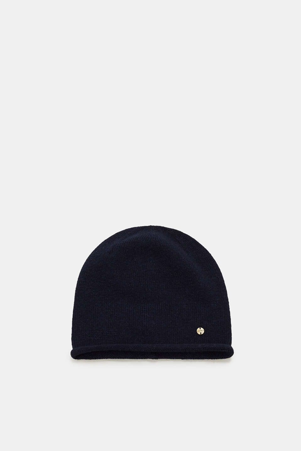 Esprit - With wool/mohair: hat with a rolled edge