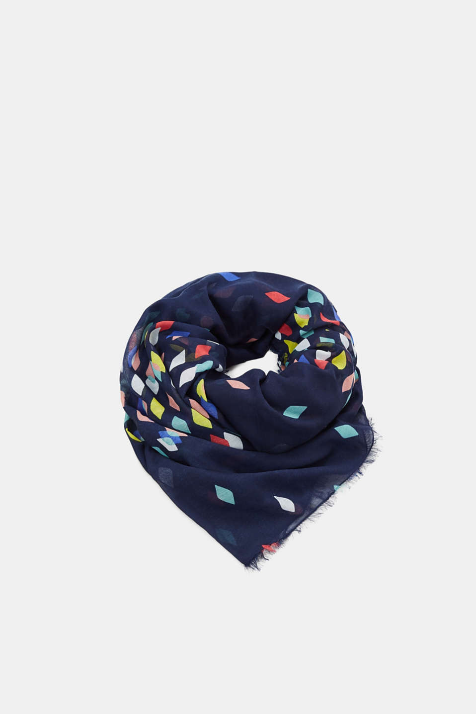 Esprit - Lightweight scarf with stripes, recycled