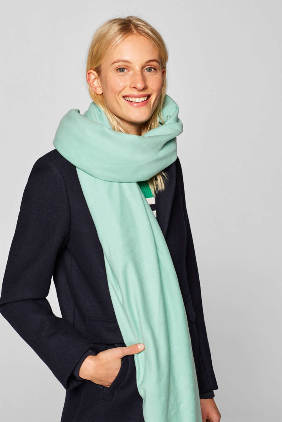 Shawls/Scarves, AQUA GREEN, detail image number 1