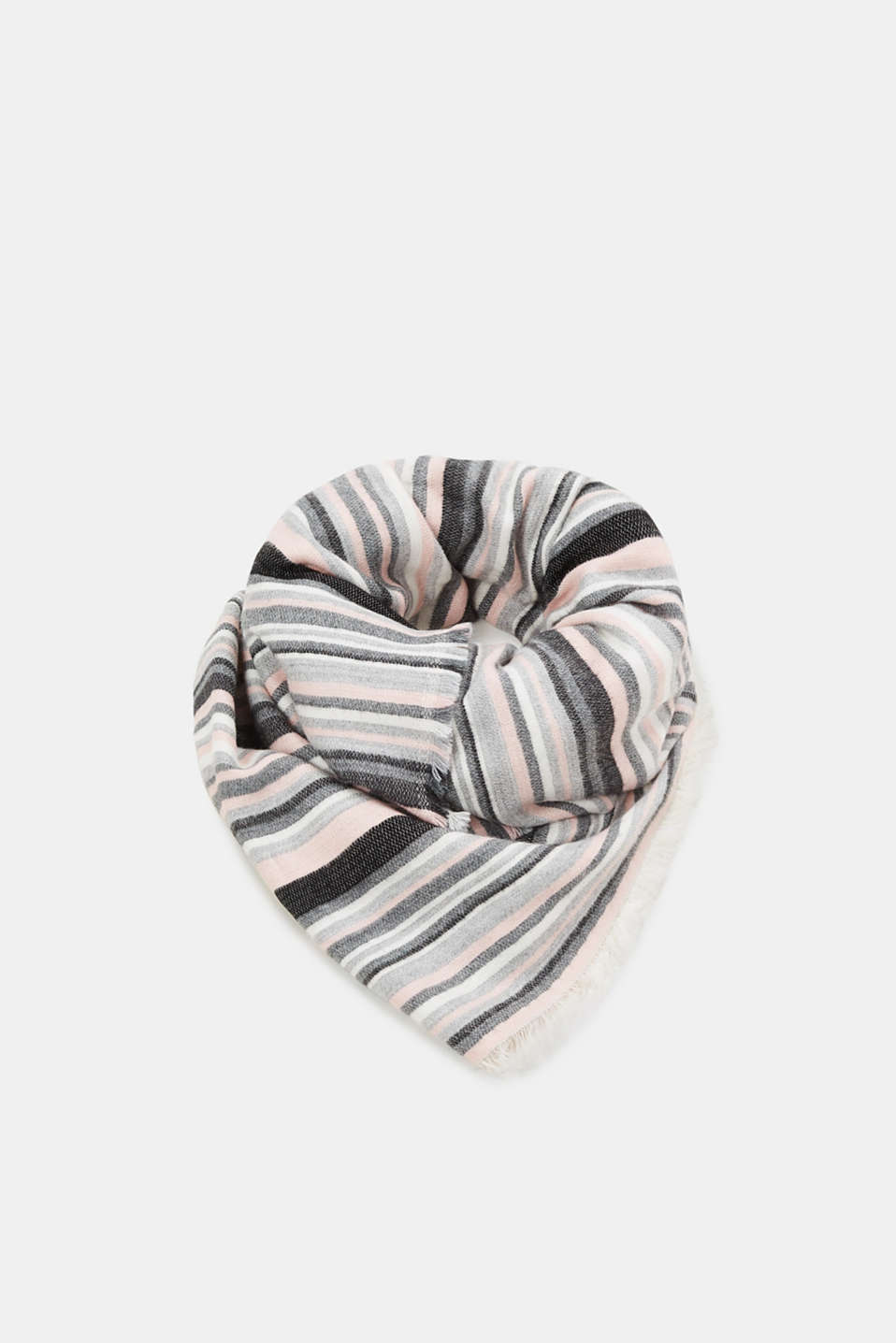 Esprit - Blended cotton woven scarf