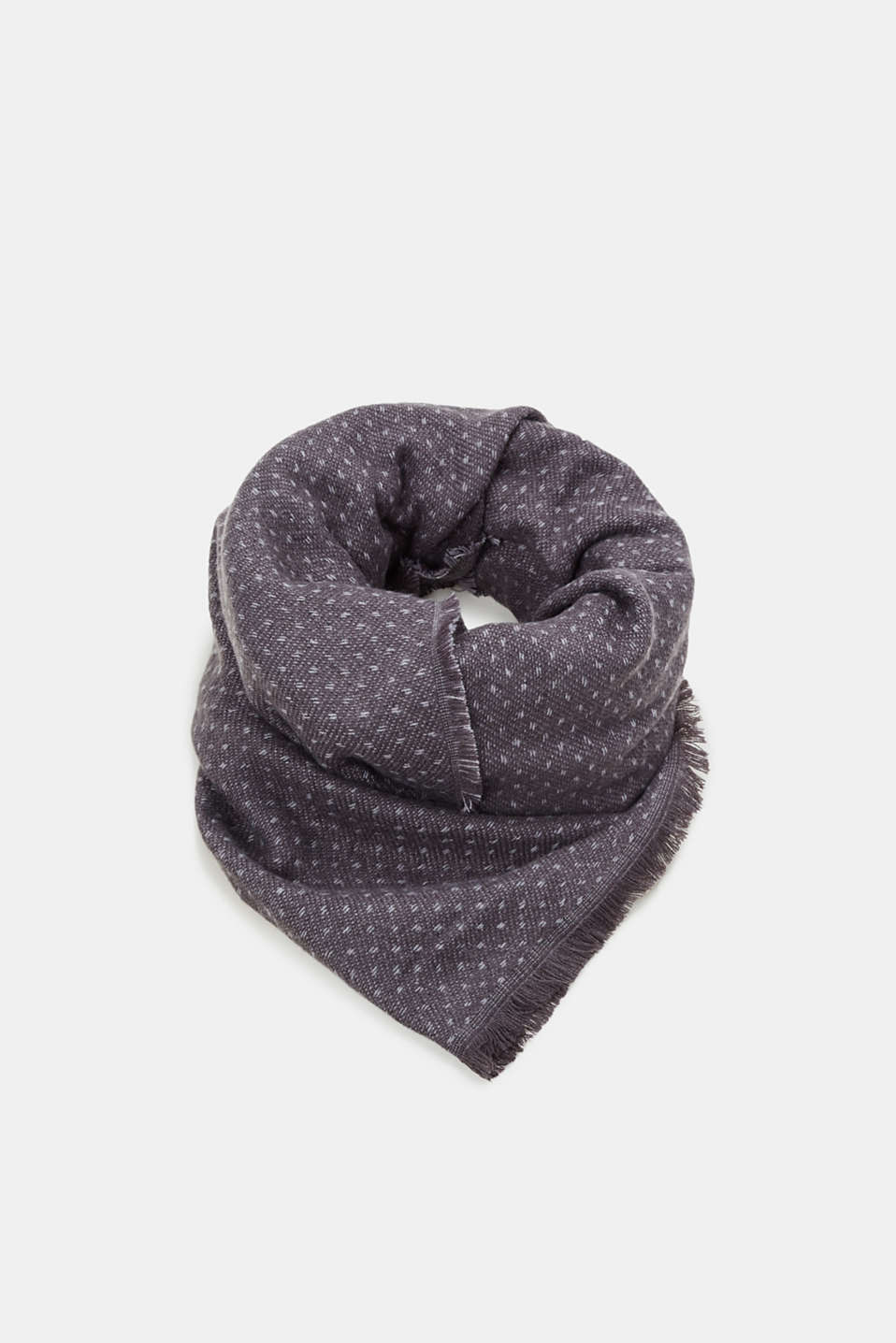 Esprit - Woven scarf with a polka dot pattern