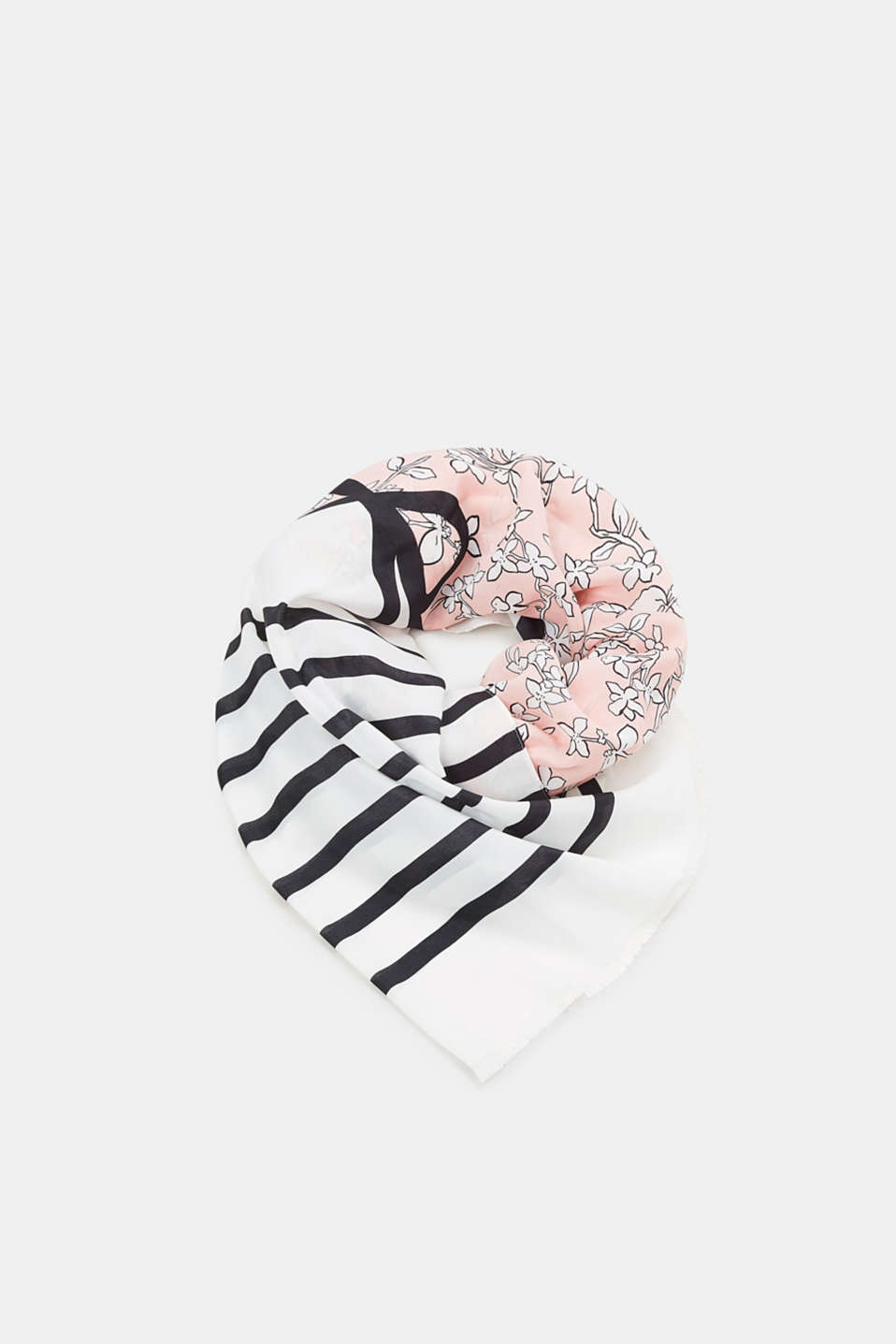 Esprit - Fine scarf with a floral print