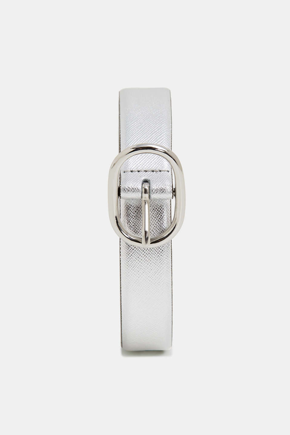 Esprit - Metallic leather belt