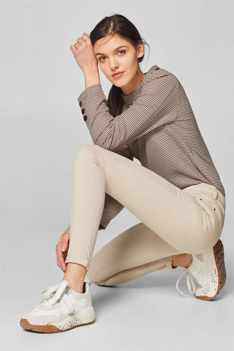 Esprit - Skinny Stretch-Pants mit Shaping-Effekt