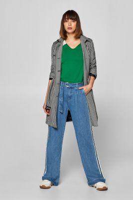 7a37514be8c Esprit - Vida jeans med revärer och linningsveck i Esprits Online-Shop