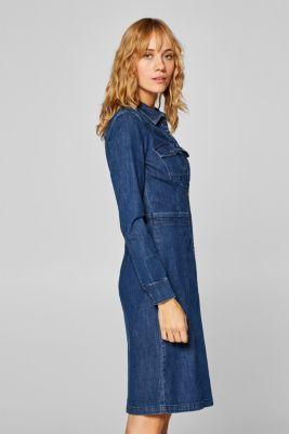 74e01a96bcab Esprit - Jeansklänning med stretch och utställd kjol i Esprits ...