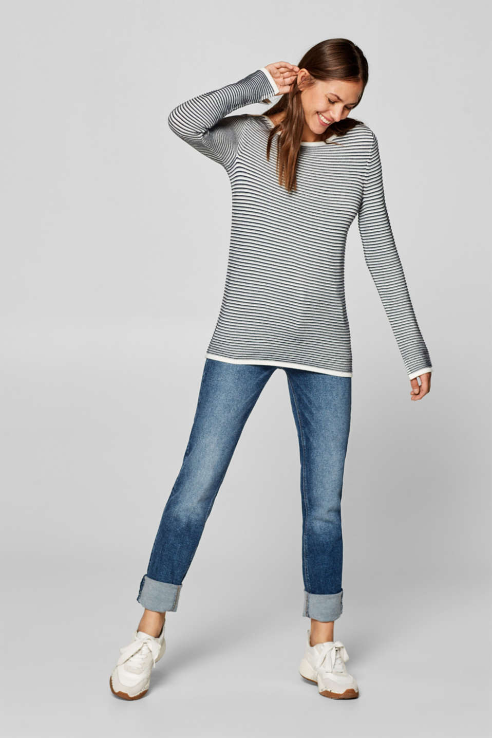 Esprit - Textured rib jumper