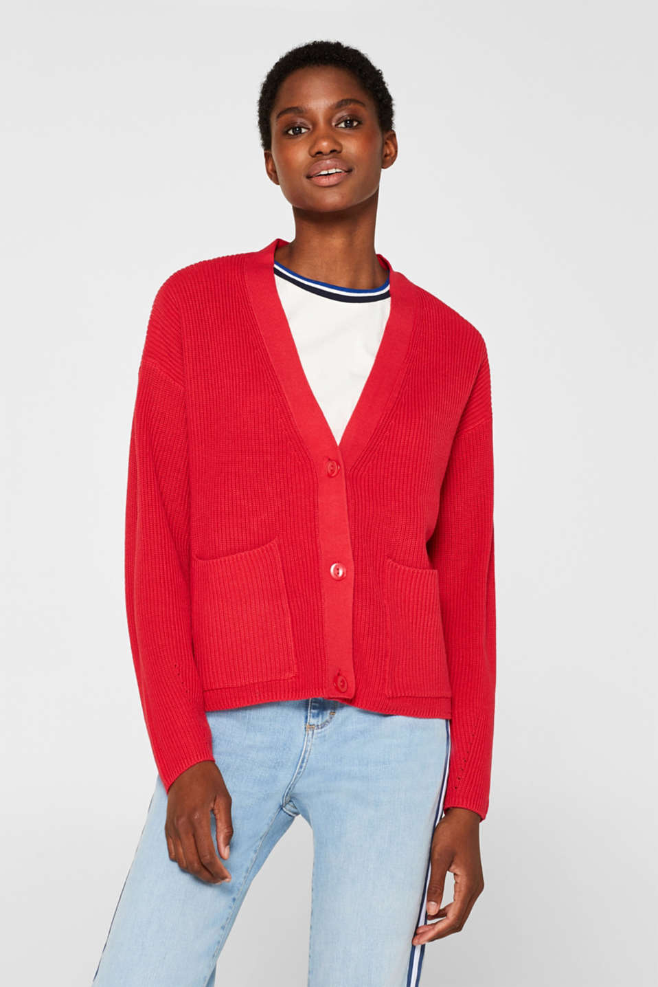 Esprit - Blended cotton cardigan