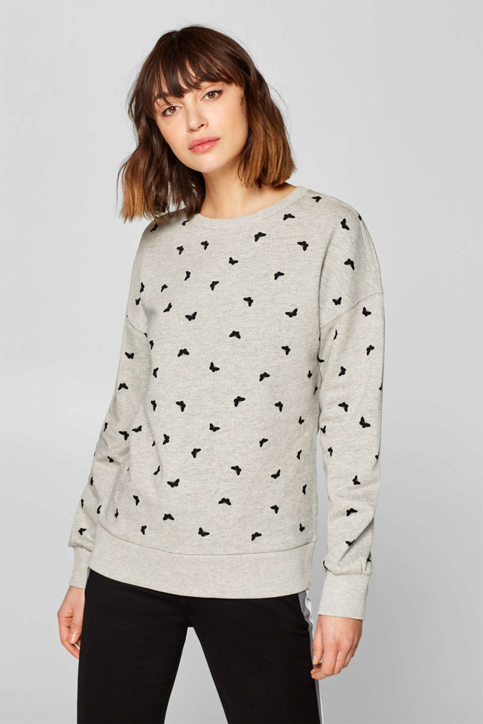 Esprit - Printed sweatshirt with a soft interior