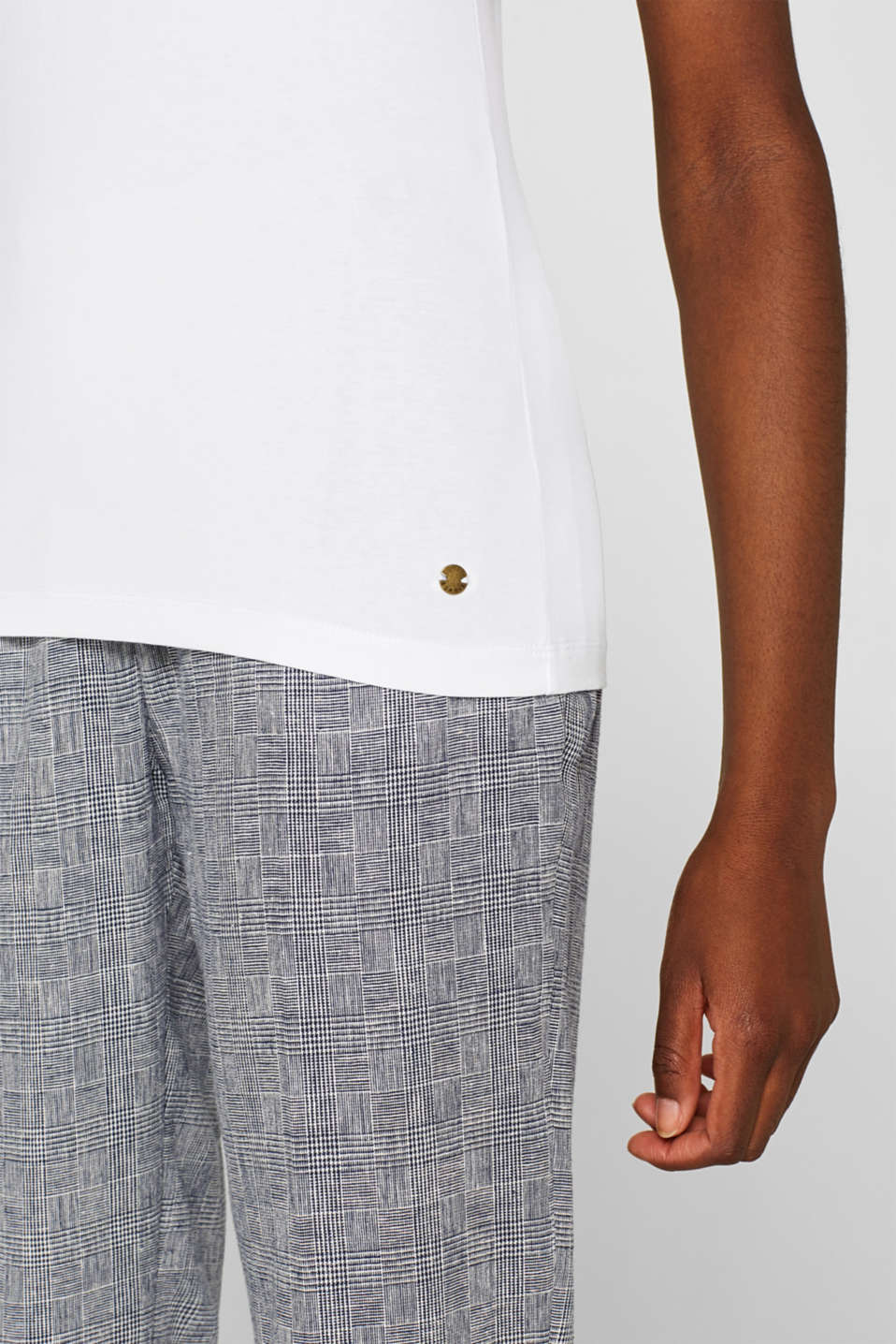 Basic top with organic cotton, WHITE, detail image number 2