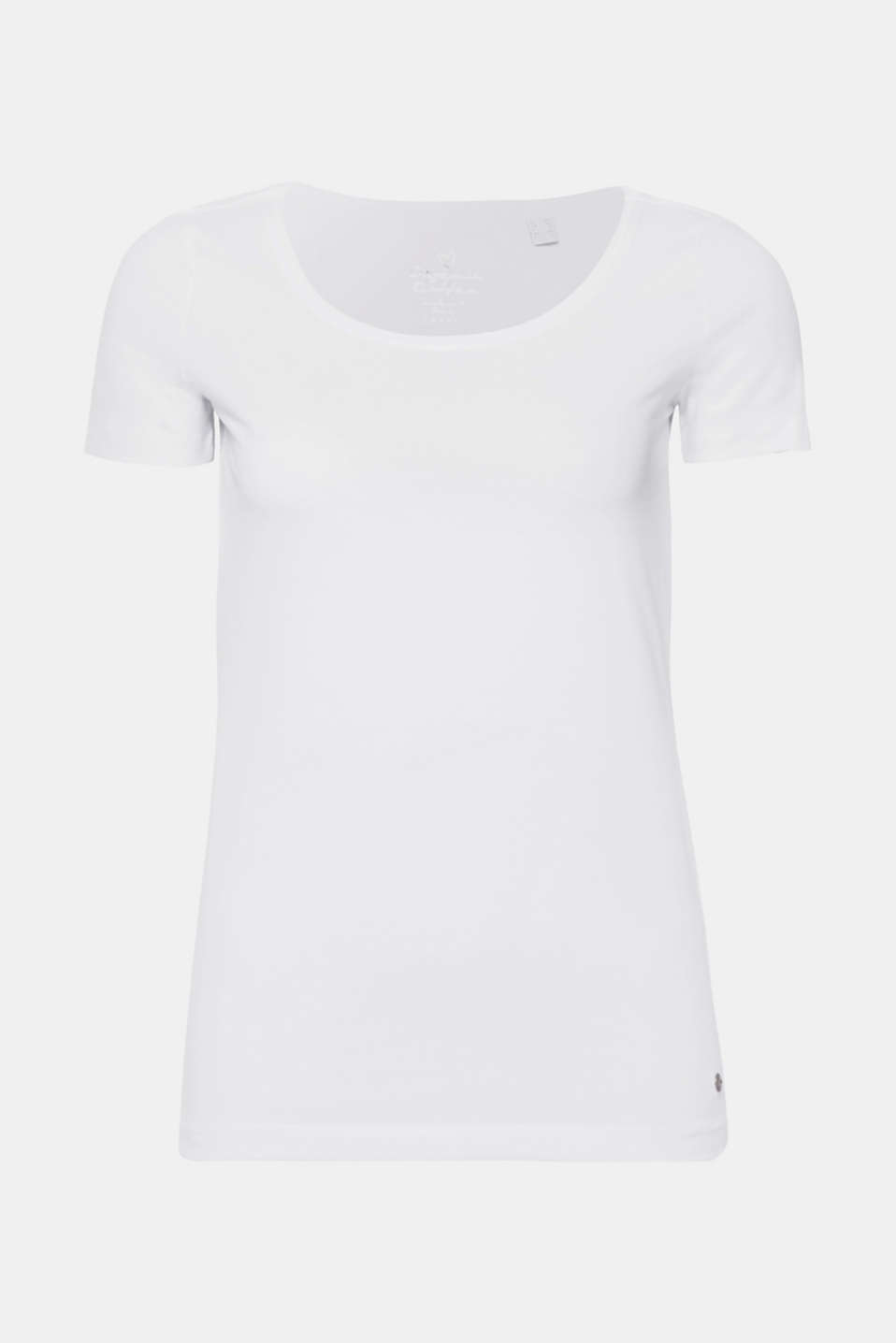 Basic top with organic cotton, WHITE, detail image number 8