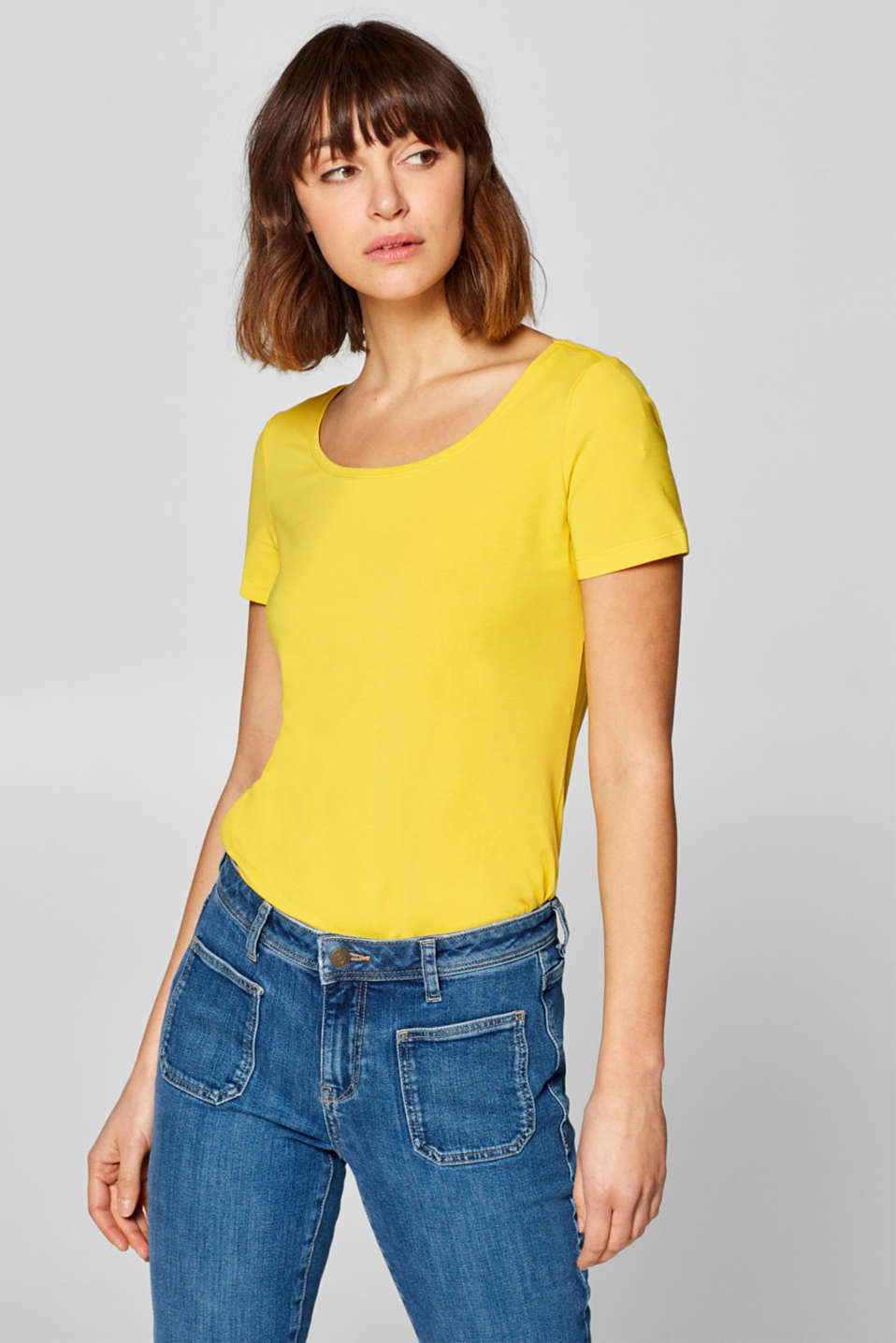 Esprit - Basic shirt met organic cotton