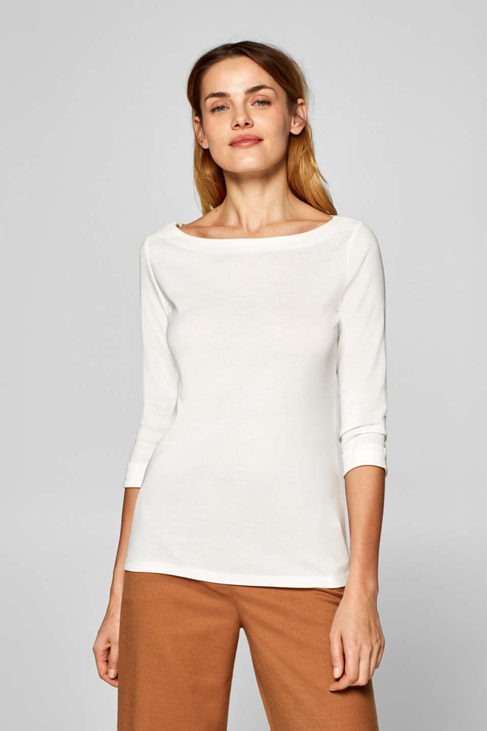 Esprit - 100% cotton T-shirt containing organic cotton