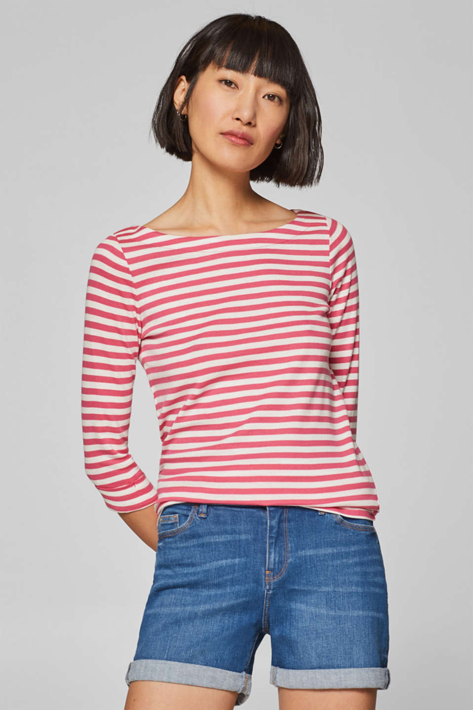 16dcb89d Esprit - Long sleeve top with organic cotton at our Online Shop