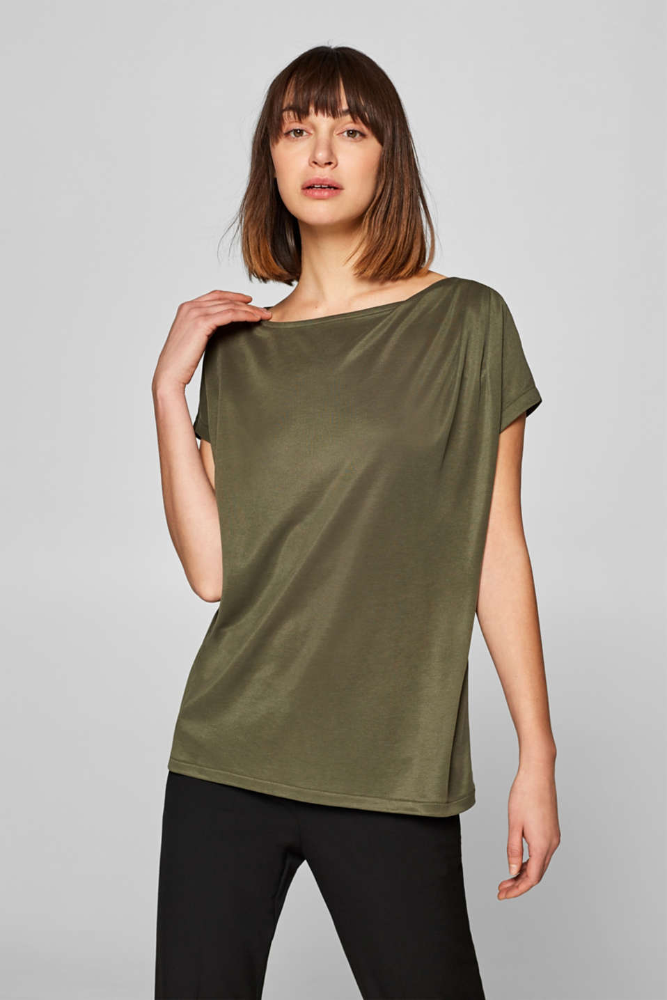 Esprit - Top with a gathered shoulder