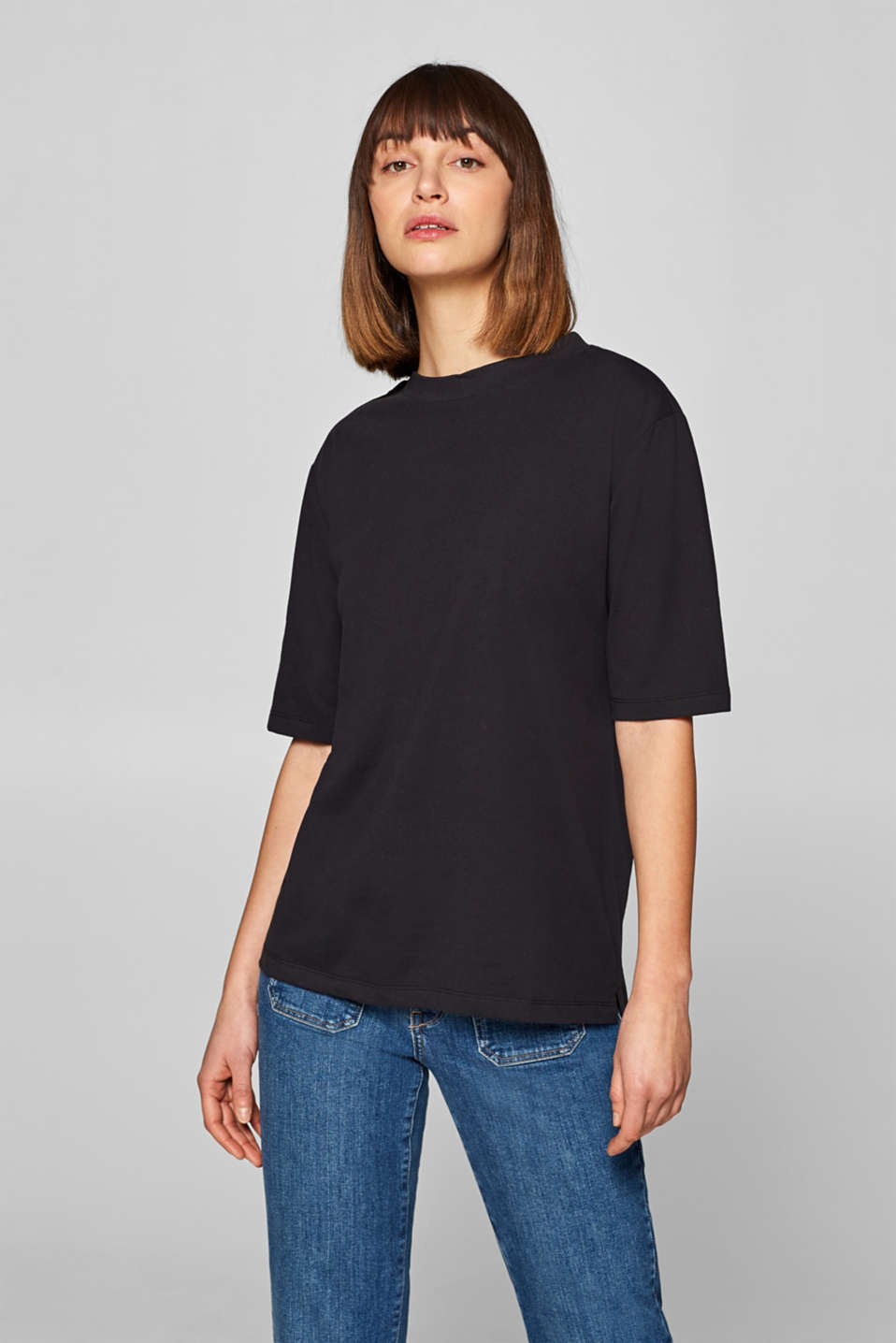 Esprit - Soft top with a wide collar