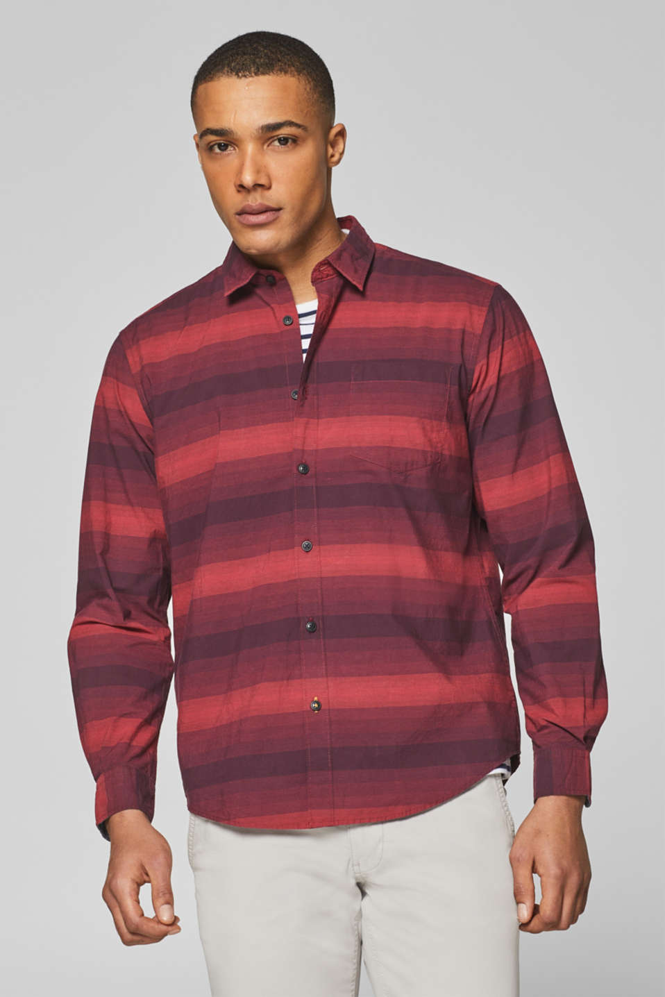 Esprit - Striped shirt, 100% cotton