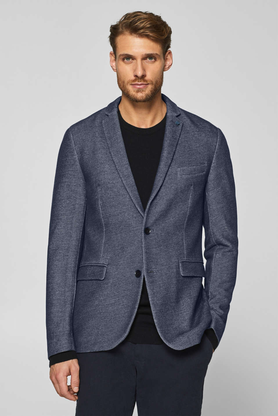 Esprit - Jacket made of textured jersey