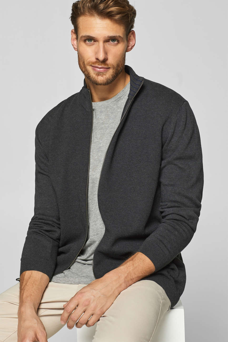 Esprit - cardigan in 100% pima cotton