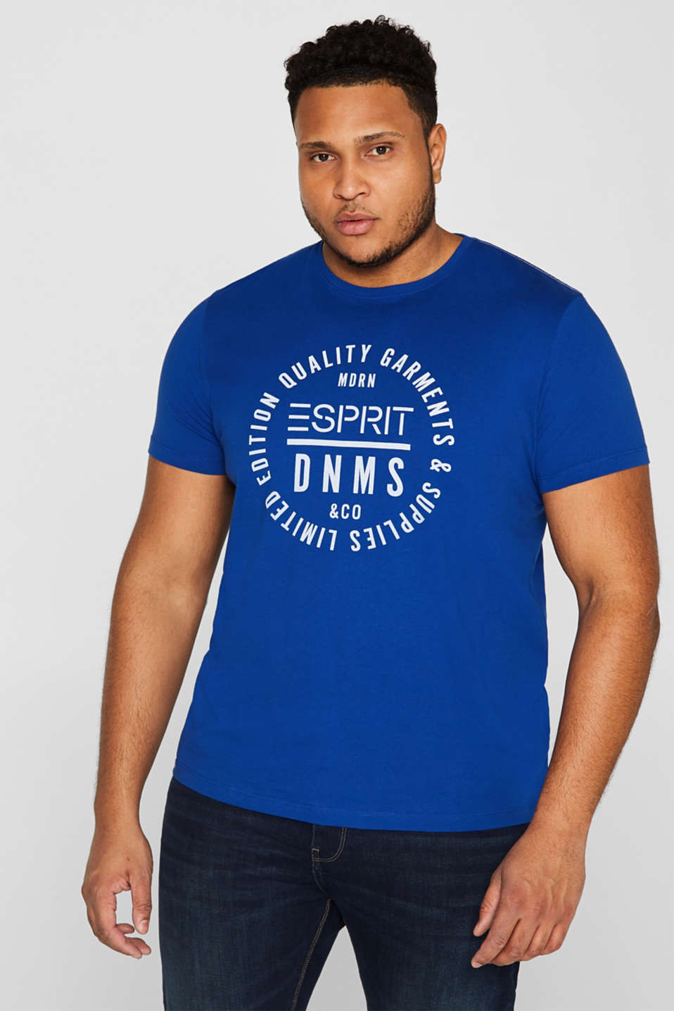 Esprit - Jersey T-shirt with logo print, 100% cotton