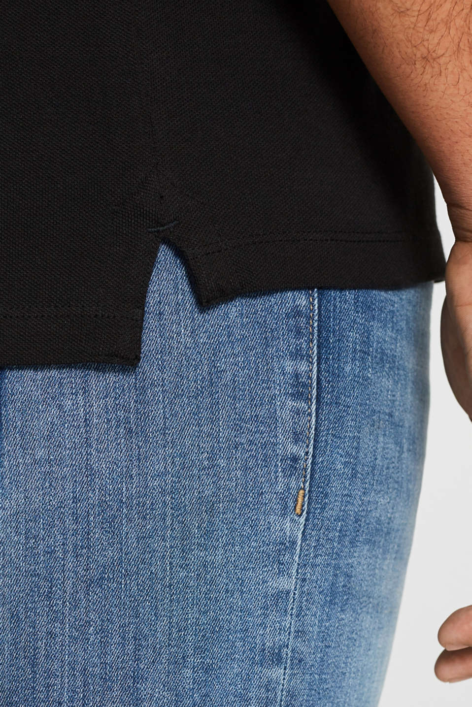Polo shirts, BLACK, detail image number 6
