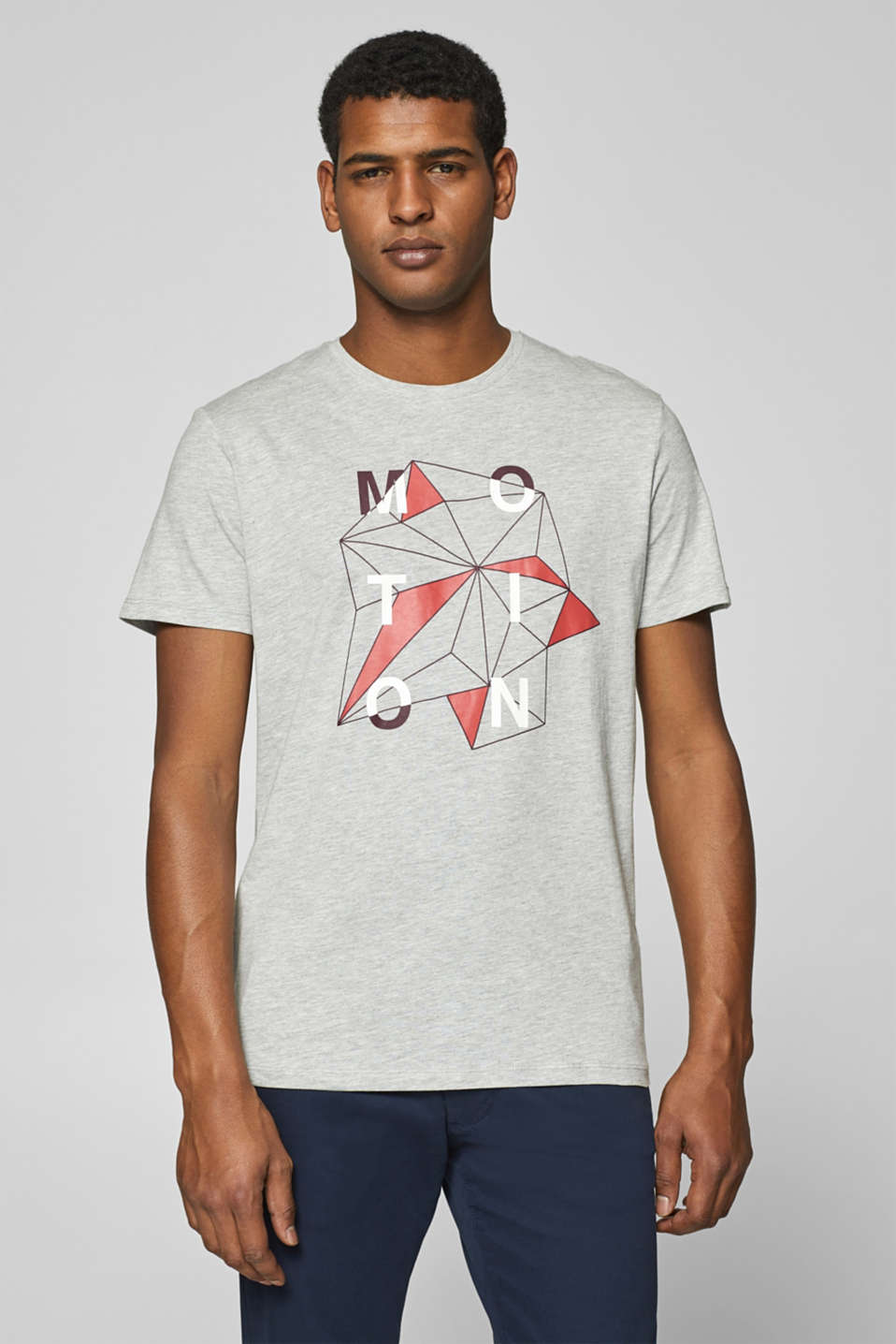 Esprit - Jersey T-shirt with a print, in blended cotton